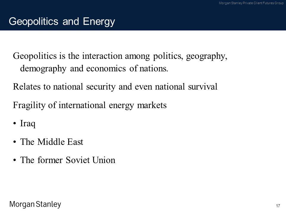 Geopolitics and Energy