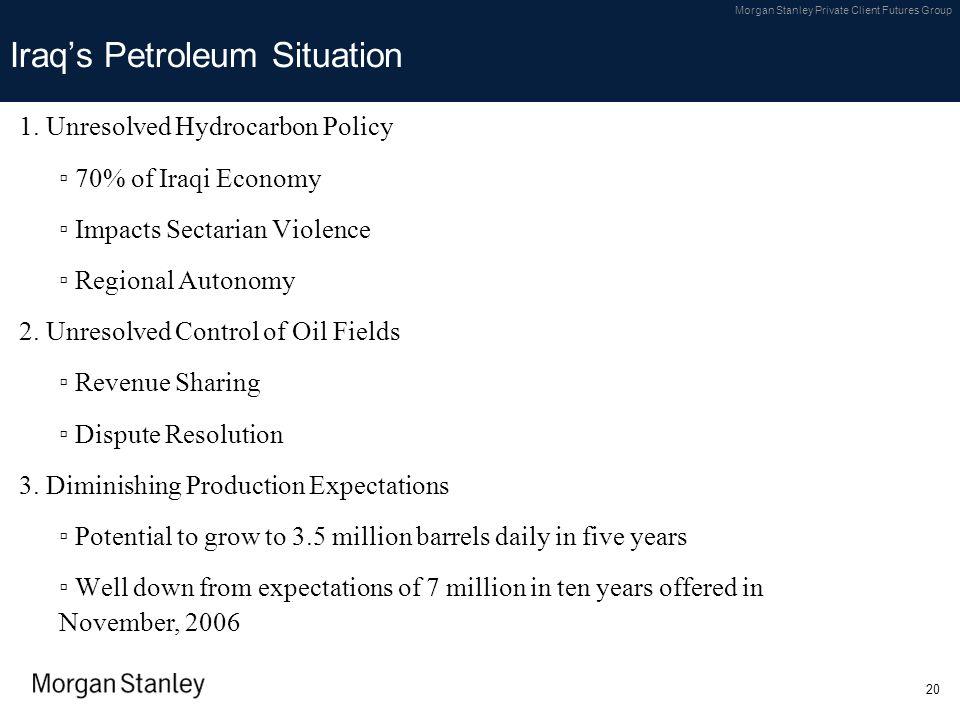 Iraq's Petroleum Situation