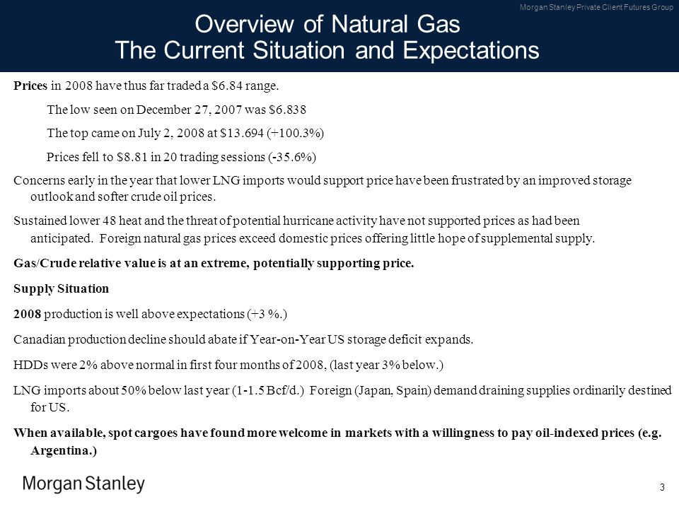 Overview of Natural Gas The Current Situation and Expectations