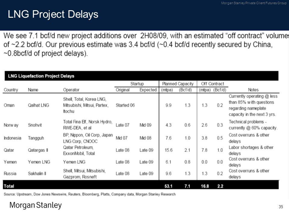 LNG Project Delays