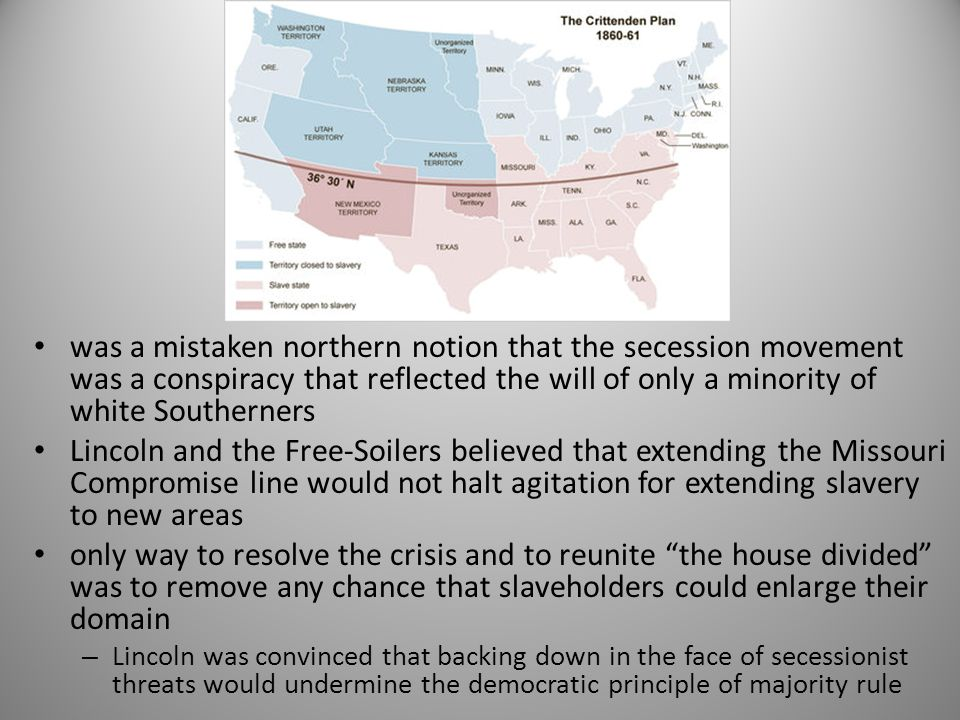 was a mistaken northern notion that the secession movement was a conspiracy that reflected the will of only a minority of white Southerners