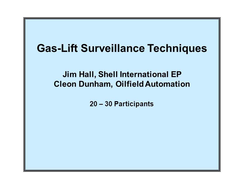Gas-Lift Surveillance Techniques