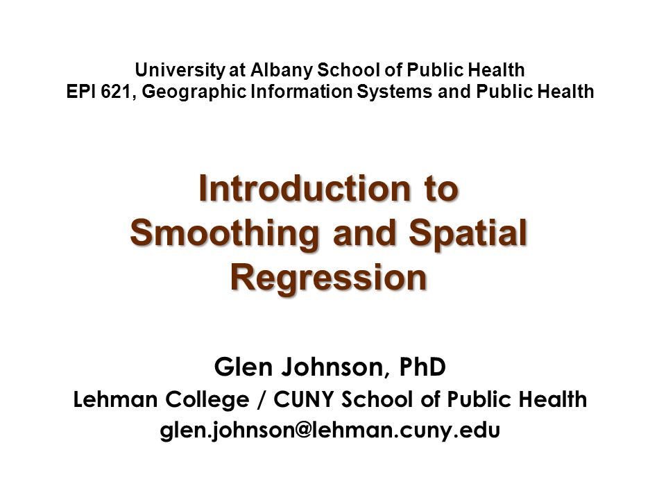 Introduction to Smoothing and Spatial Regression