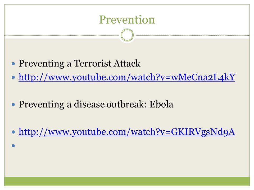 Prevention Preventing a Terrorist Attack
