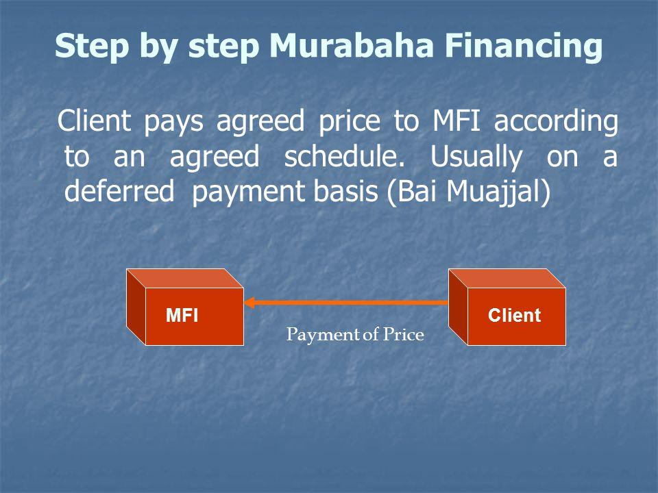 Step by step Murabaha Financing
