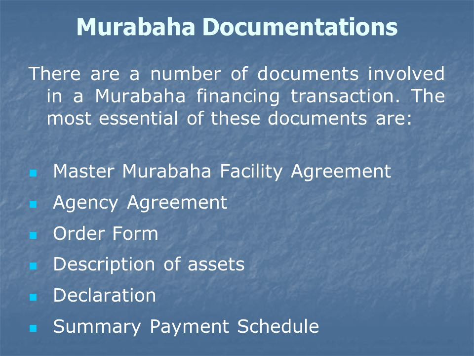Murabaha Documentations