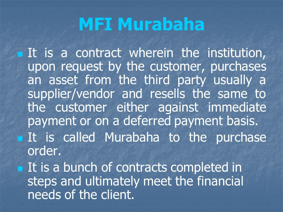 MFI Murabaha
