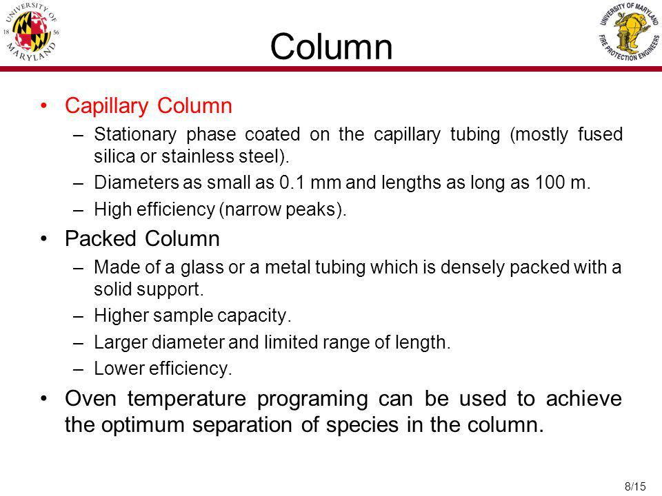 Column Capillary Column Packed Column
