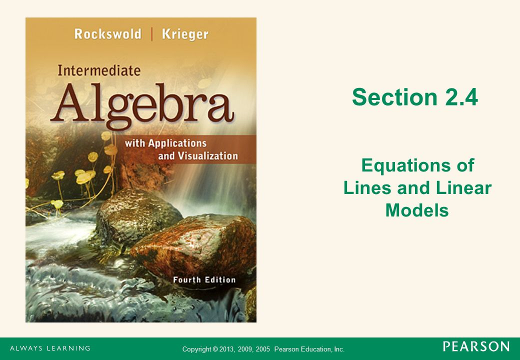 Equations of Lines and Linear Models