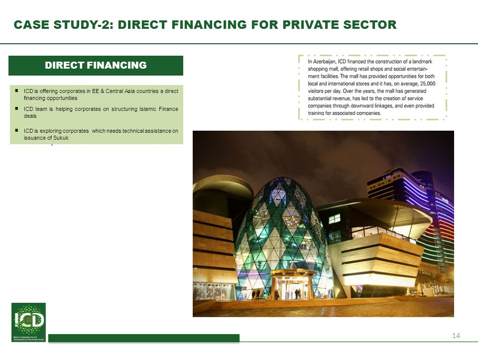 CASE STUDY-2: DIRECT FINANCING FOR PRIVATE SECTOR