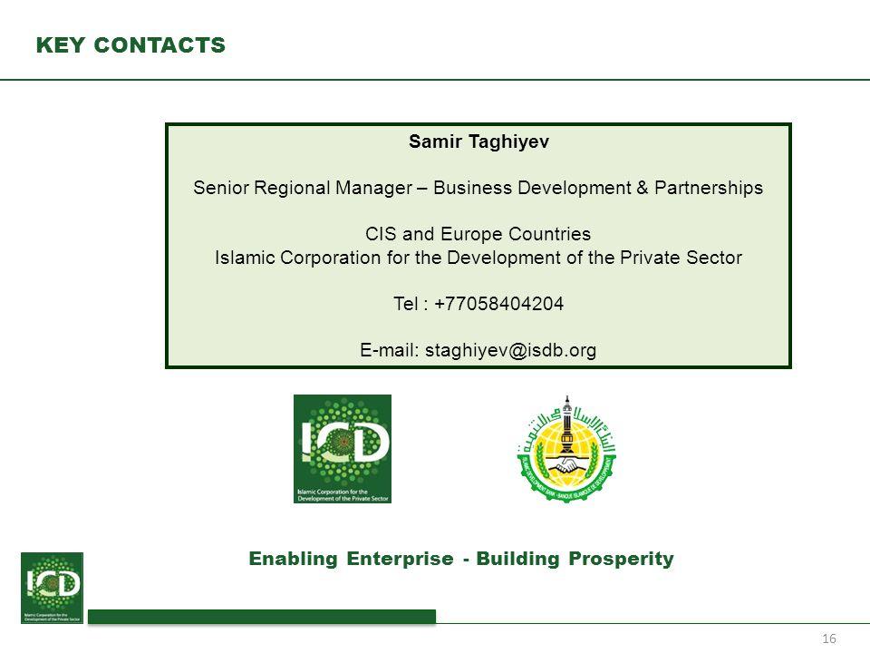 KEY CONTACTS Samir Taghiyev