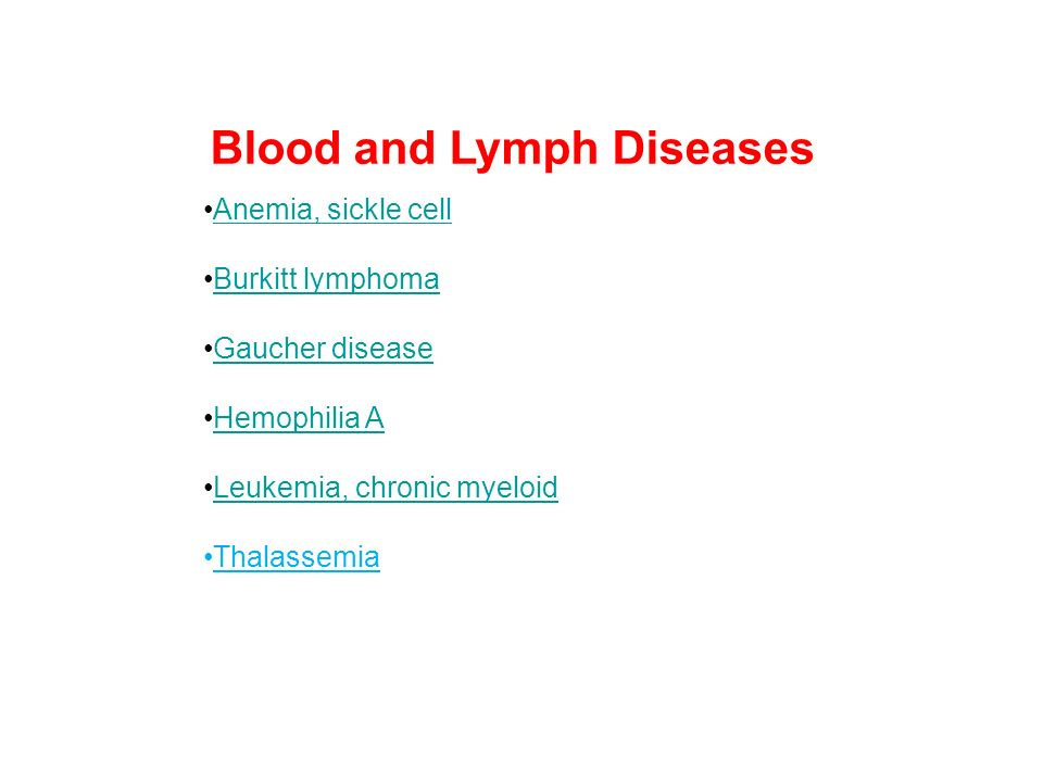 Blood and Lymph Diseases