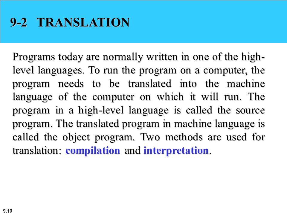 9-2 TRANSLATION