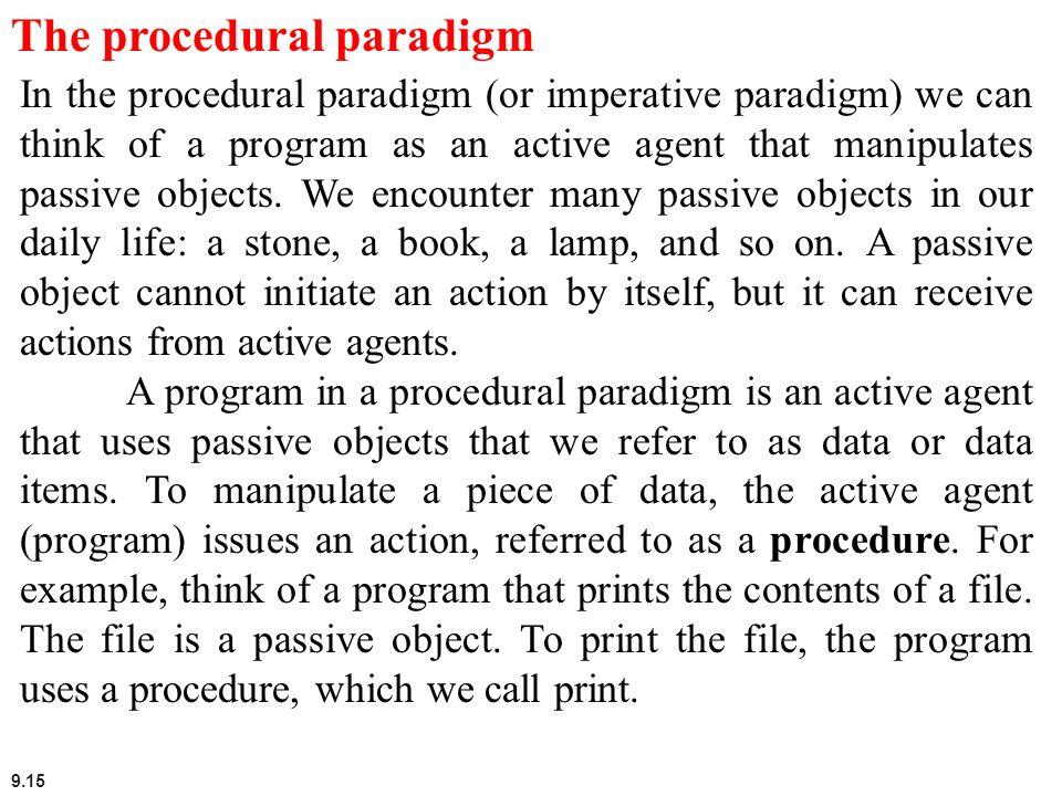 The procedural paradigm