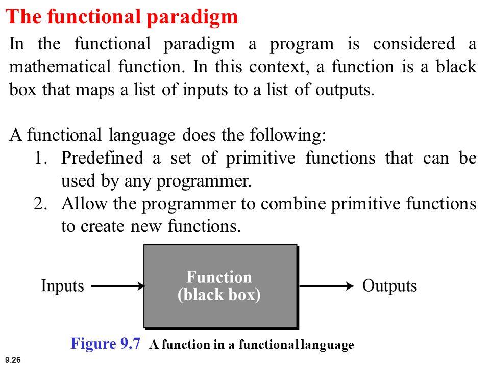 The functional paradigm
