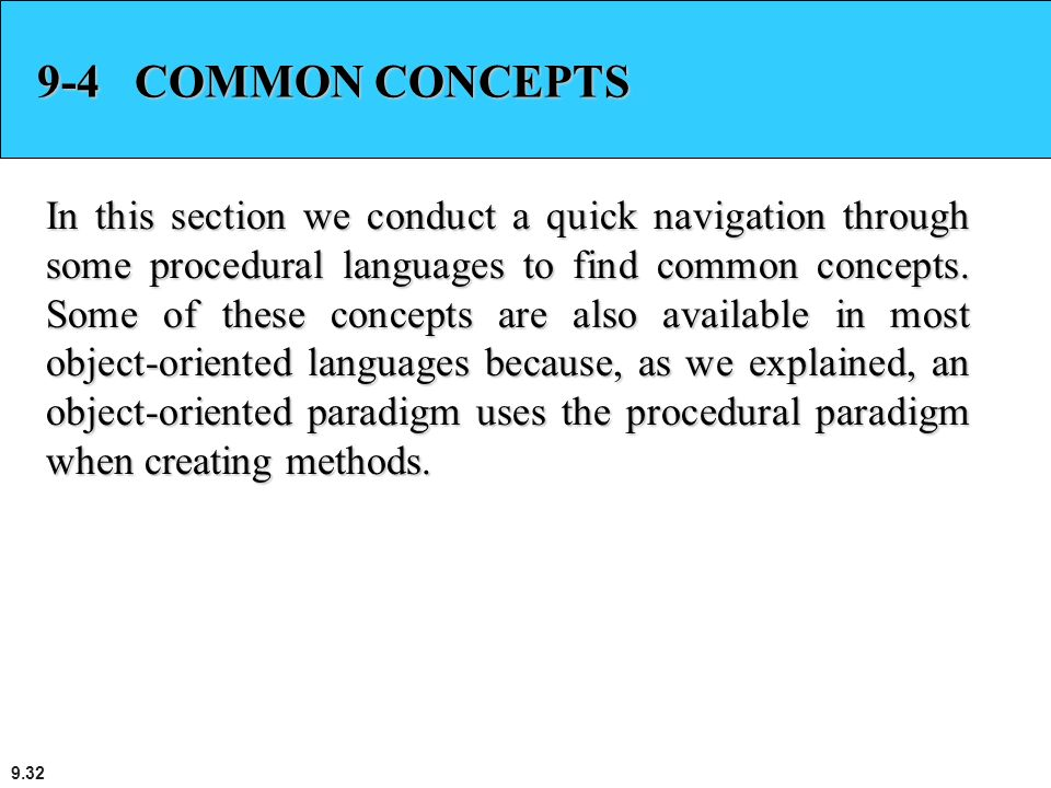 9-4 COMMON CONCEPTS