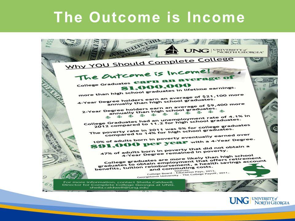 The Outcome is Income Sheila