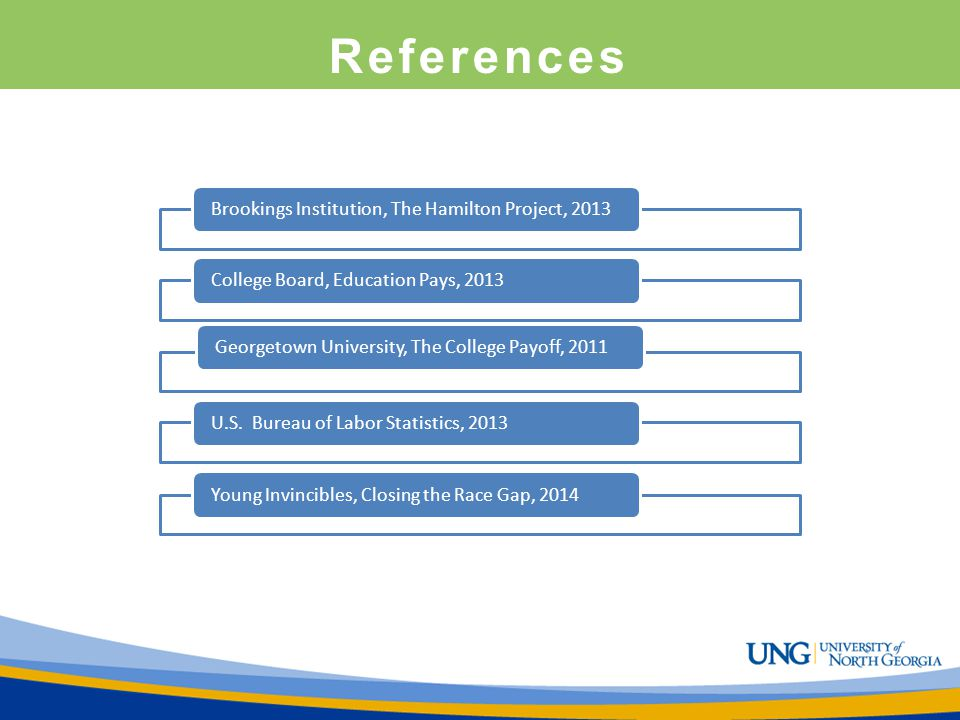 References Brookings Institution, The Hamilton Project, 2013