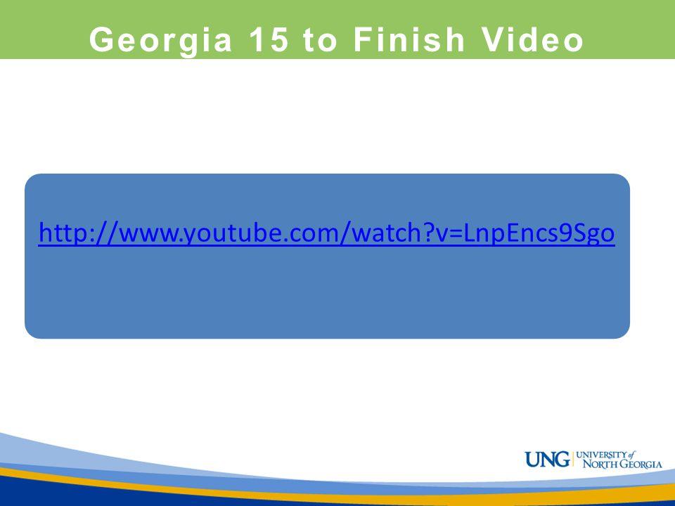 Georgia 15 to Finish Video