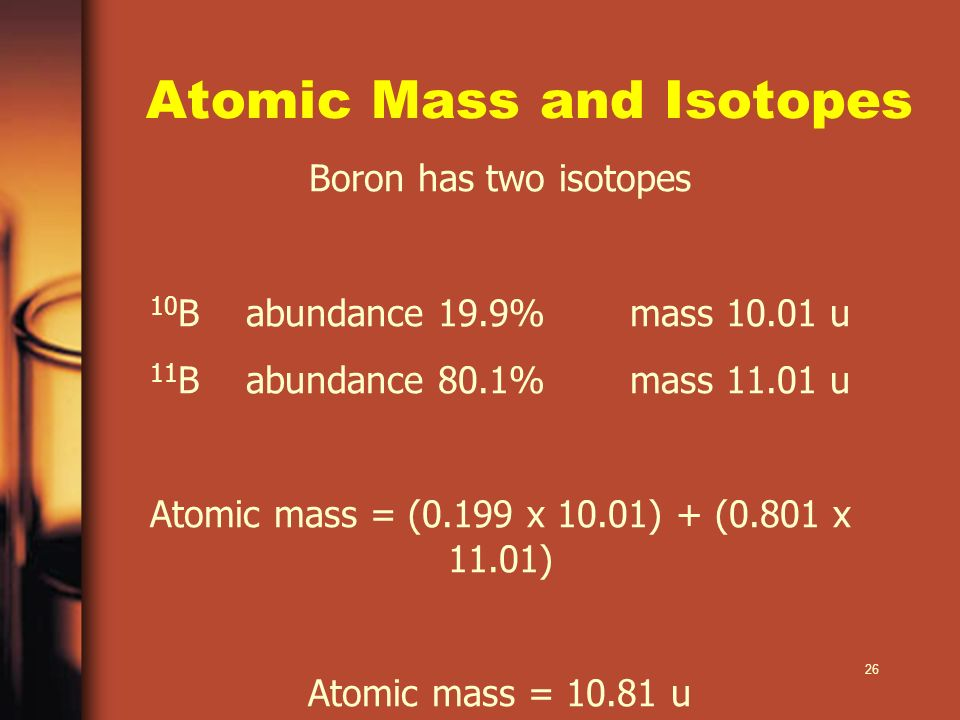 Atomic Mass and Isotopes