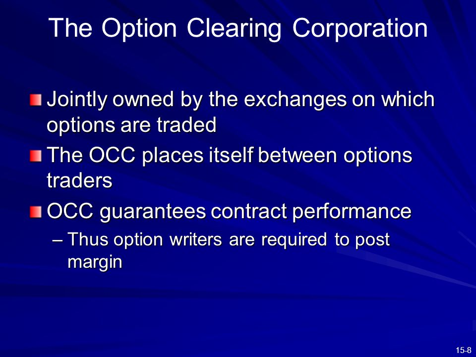 The Option Clearing Corporation