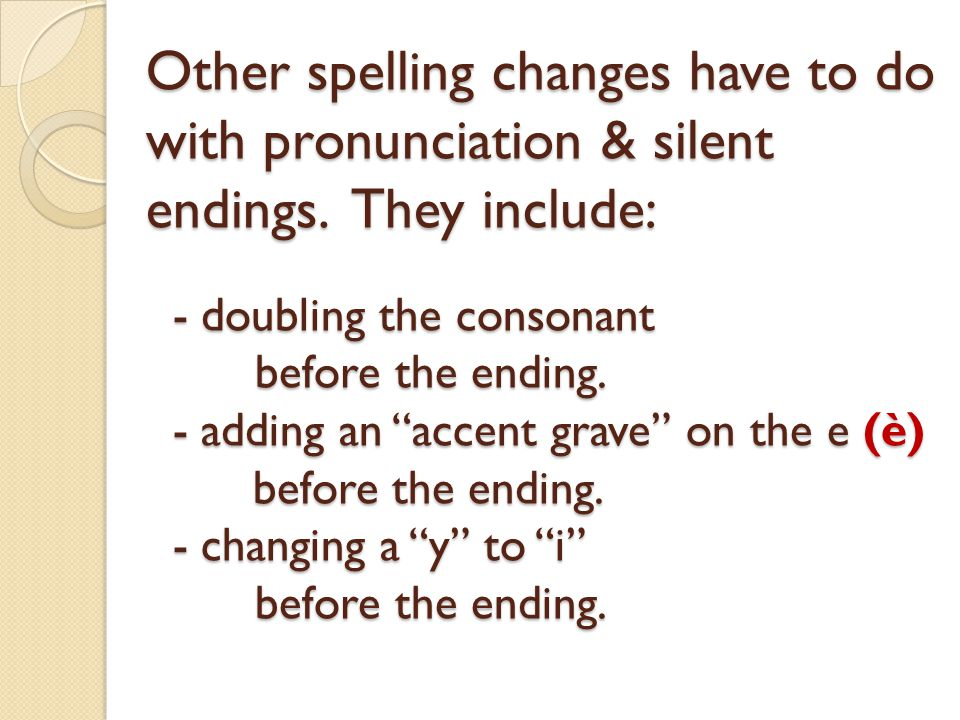 Other spelling changes have to do with pronunciation & silent endings