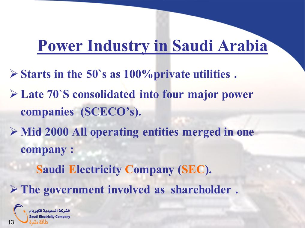 Power Industry in Saudi Arabia