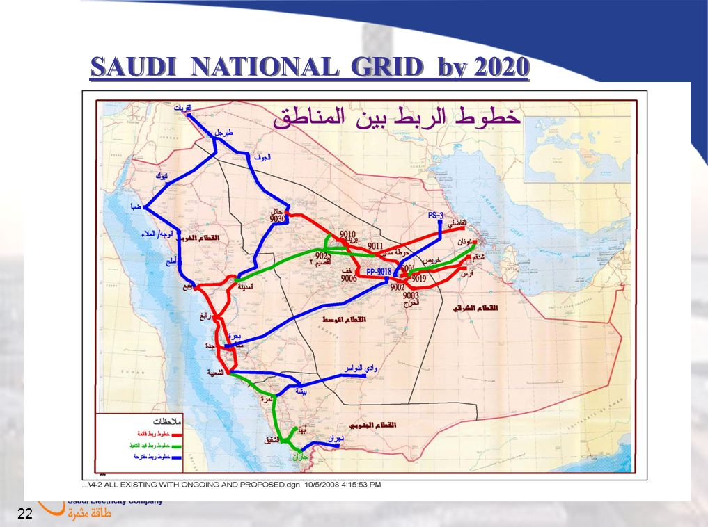 SAUDI NATIONAL GRID by 2020