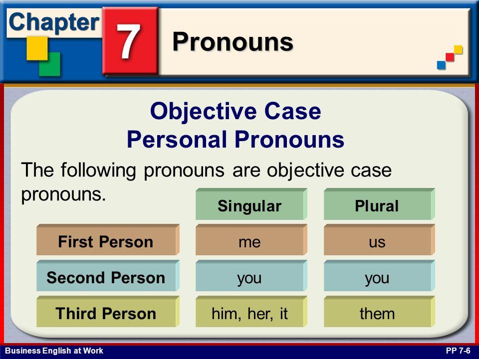 Objective Case Personal Pronouns