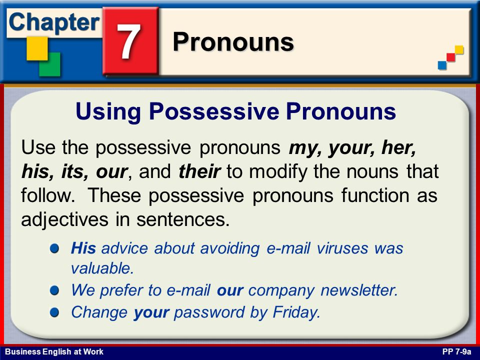 Using Possessive Pronouns