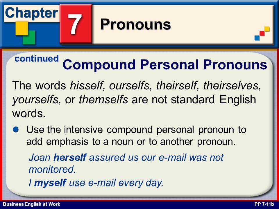 Compound Personal Pronouns