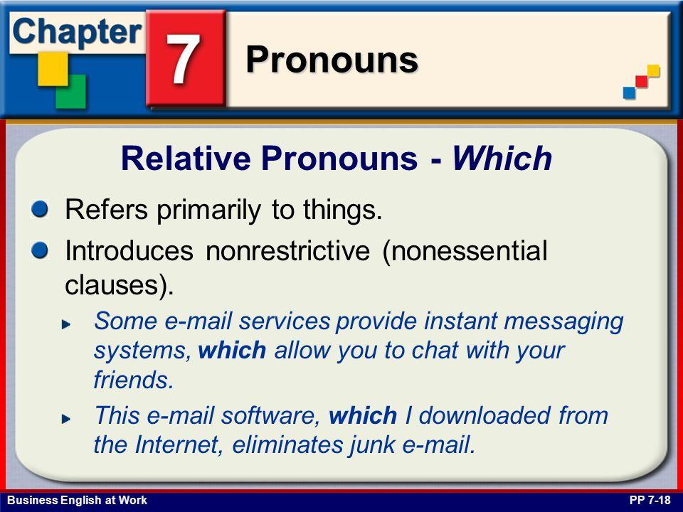 Relative Pronouns - Which