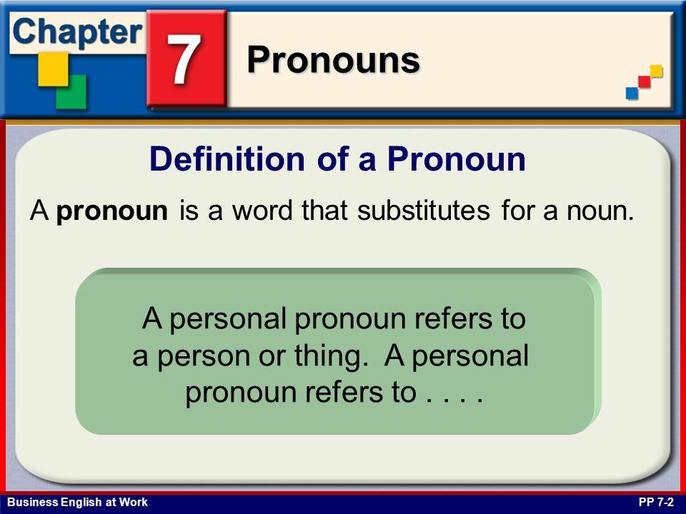 Definition of a Pronoun