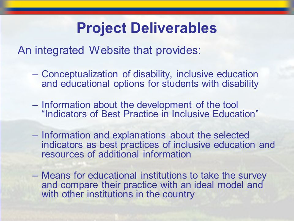Project Deliverables An integrated Website that provides:
