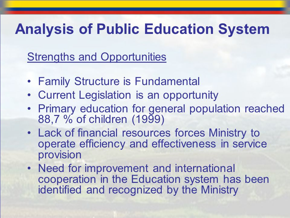 Analysis of Public Education System