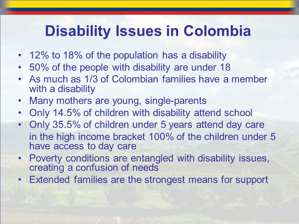 Disability Issues in Colombia