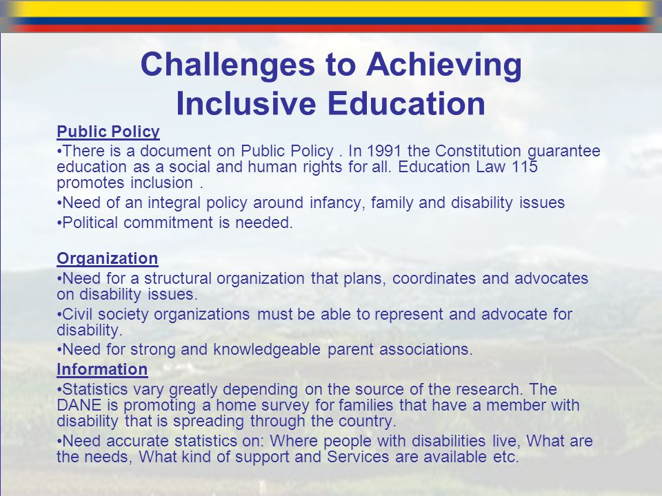 The Biggest Barriers to Inclusive Education