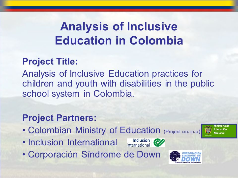 Analysis of Inclusive Education in Colombia
