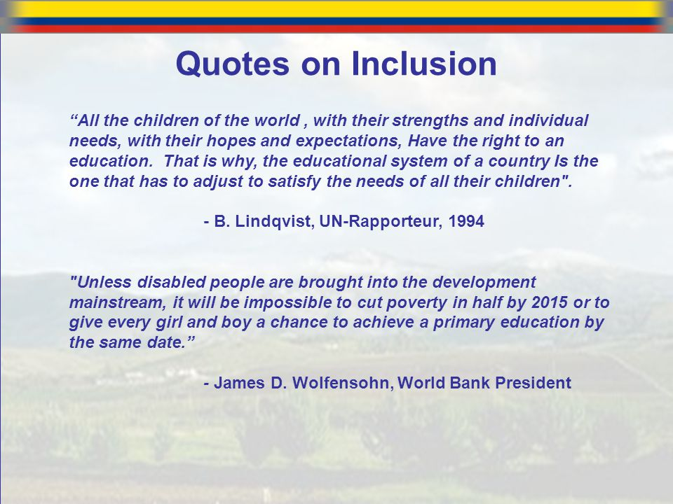 Quotes on Inclusion