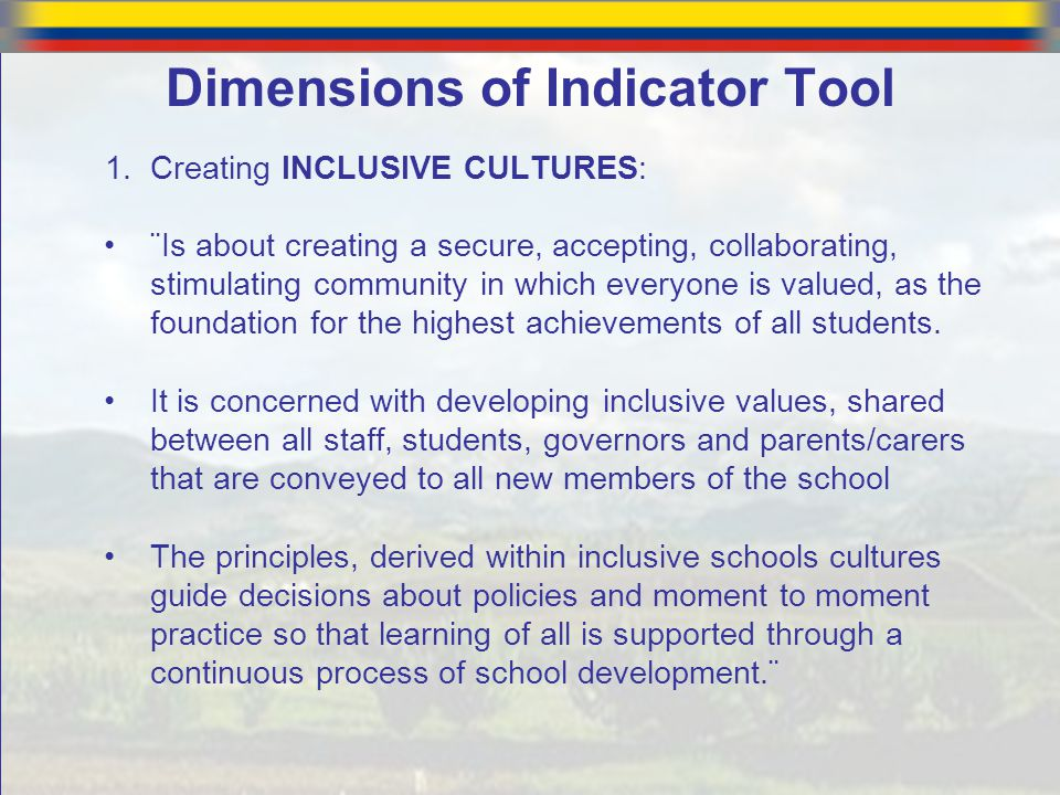 Dimensions of Indicator Tool