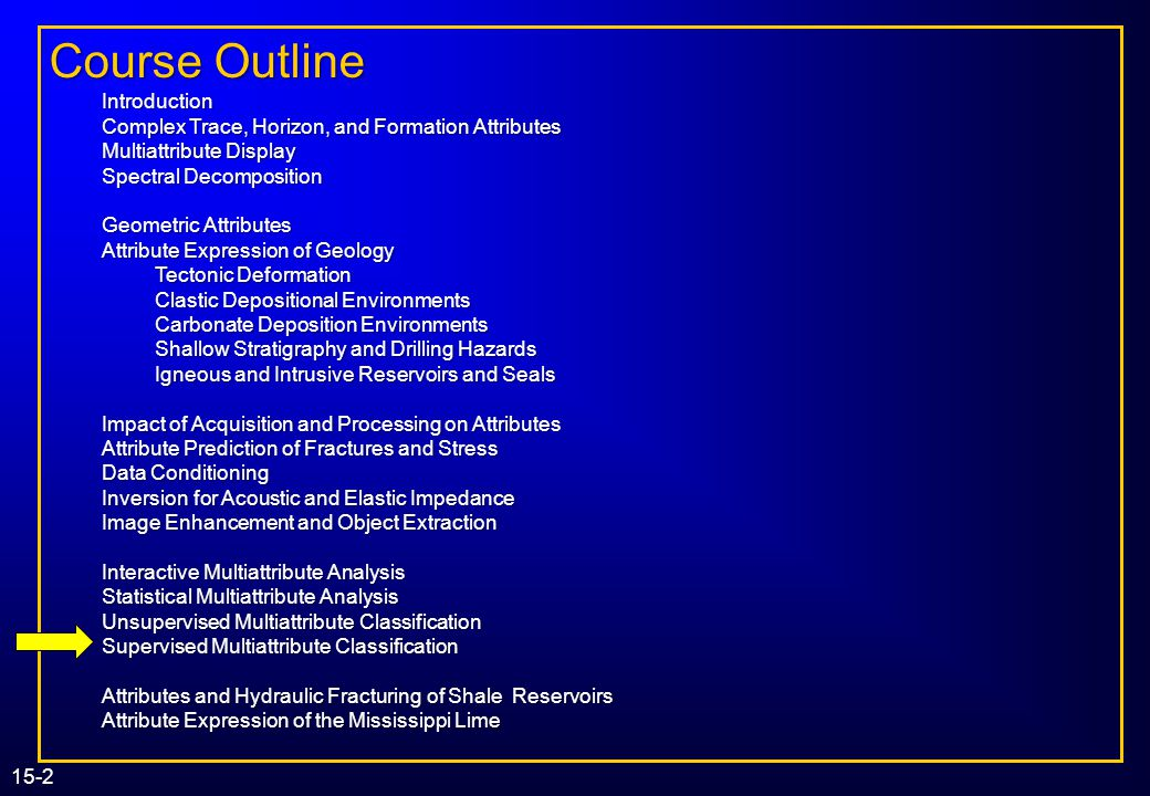 1. Introduction Course Outline Introduction
