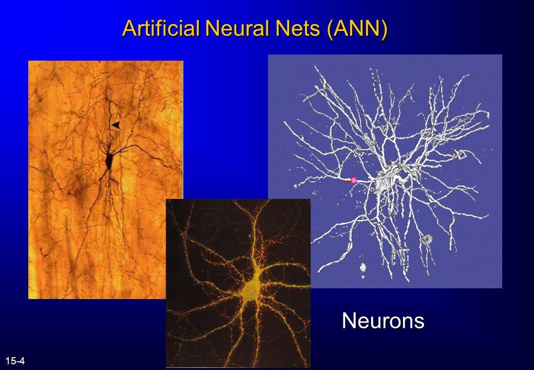 Artificial Neural Nets (ANN)