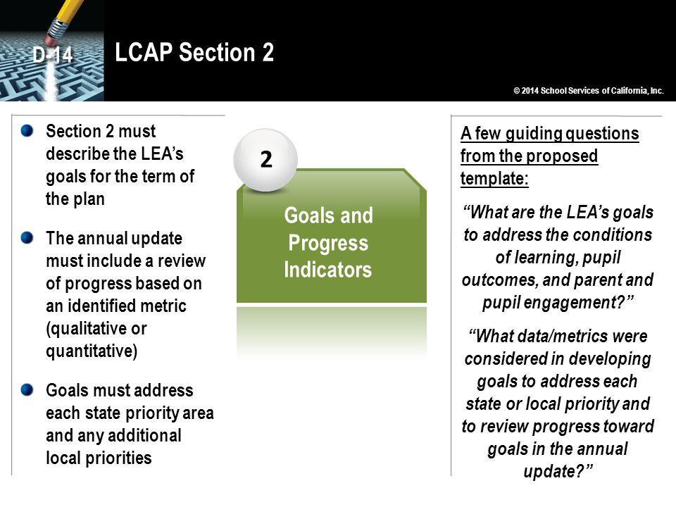 Goals and Progress Indicators