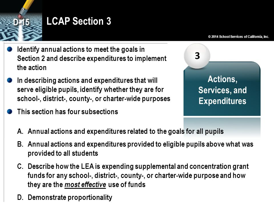 Actions, Services, and Expenditures