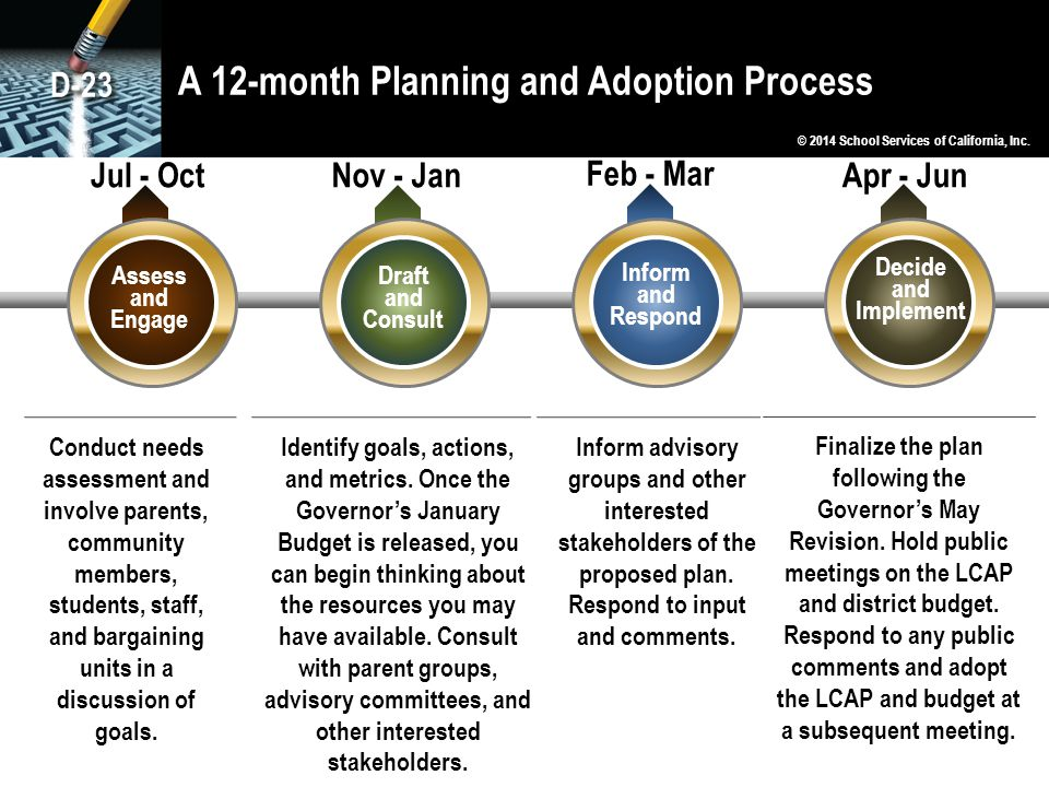 A 12-month Planning and Adoption Process