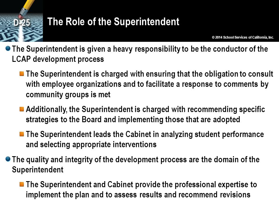The Role of the Superintendent