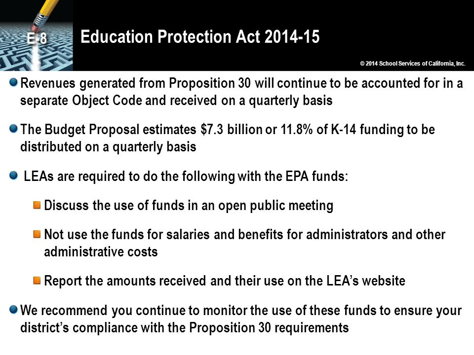 Education Protection Act 2014-15