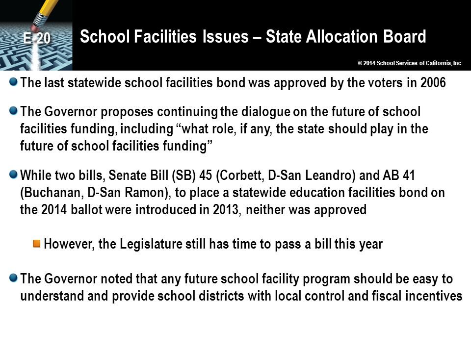 School Facilities Issues – State Allocation Board