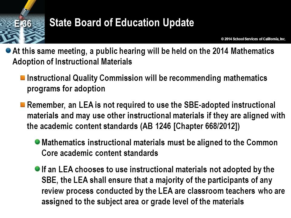 State Board of Education Update