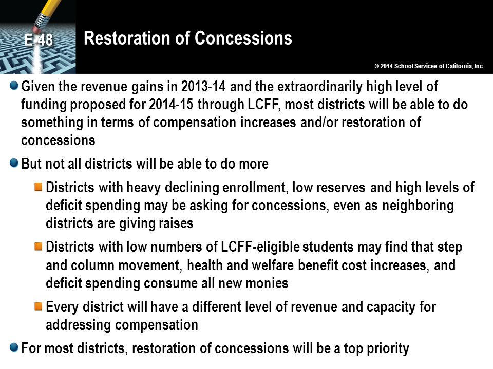 Restoration of Concessions